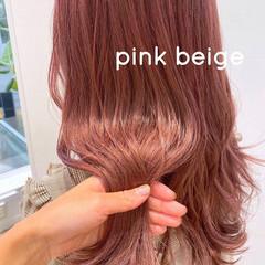 ラベンダーピンク ピンク ロング ピンクラベンダー ヘアスタイルや髪型の写真・画像