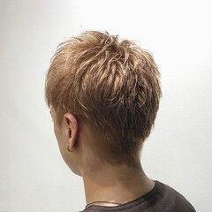 メンズショート ショート ナチュラル メンズカラー ヘアスタイルや髪型の写真・画像