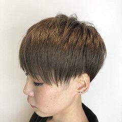 ナチュラル ベリーショート 刈り上げ女子 ショート ヘアスタイルや髪型の写真・画像