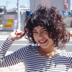 キュート 可愛い スパイラルパーマ ガーリー ヘアスタイルや髪型の写真・画像