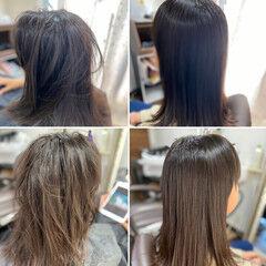 髪質改善トリートメント 縮毛矯正 ガーリー 髪質改善 ヘアスタイルや髪型の写真・画像