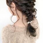 編みおろしヘア 艶髪 編みおろし ヘアアレンジ