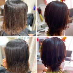 ガーリー ミディアム ウルフカット 頭皮改善 ヘアスタイルや髪型の写真・画像