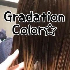 ホワイトグラデーション 大人ハイライト エレガント ハイライト ヘアスタイルや髪型の写真・画像