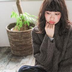 冬 ミディアム ガーリー チョコレート ヘアスタイルや髪型の写真・画像