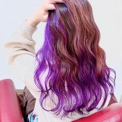 ストリート ピンクバイオレット ラズベリーピンク ピンクラベンダー ヘアスタイルや髪型の写真・画像
