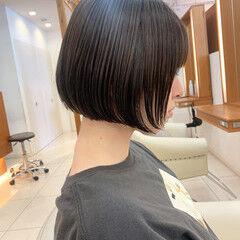 ナチュラル ショート 前下がりボブ 前下がりヘア ヘアスタイルや髪型の写真・画像
