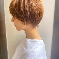 簡単スタイリング ショート 大人かわいい ショートヘア ヘアスタイルや髪型の写真・画像