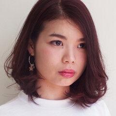 夏 大人女子 春 ピンク ヘアスタイルや髪型の写真・画像