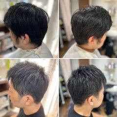 フェードカット ツーブロック スキンフェード ショート ヘアスタイルや髪型の写真・画像
