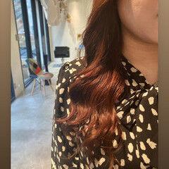 ナチュラル セミロング 韓国ヘア うる艶カラー ヘアスタイルや髪型の写真・画像