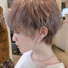 エレガント インナーカラー ミニボブ ベリーショート ヘアスタイルや髪型の写真・画像
