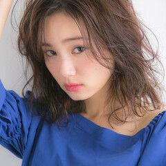 可愛い 大人可愛い フェミニン 無造作ミックス ヘアスタイルや髪型の写真・画像