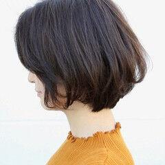 ボブ エレガント ショートヘア ショートボブ ヘアスタイルや髪型の写真・画像