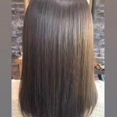 うる艶カラー ボブ 大人女子 髪質改善 ヘアスタイルや髪型の写真・画像