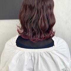 ピンクバイオレット 暗髪バイオレット アクセサリーカラー バイオレットアッシュ ヘアスタイルや髪型の写真・画像