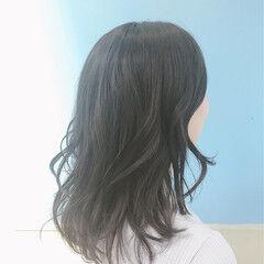 ナチュラル OL モテ髪 セミロング ヘアスタイルや髪型の写真・画像