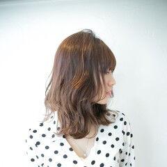 大人ミディアム 外国人風 透明感カラー 外国人風フェミニン ヘアスタイルや髪型の写真・画像