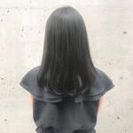ミディアム 艶髪 ナチュラル デート