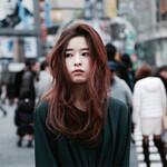 モード ハイライト アッシュ 暗髪