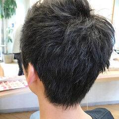 ベリーショート メンズ ストリート ウルフカット ヘアスタイルや髪型の写真・画像