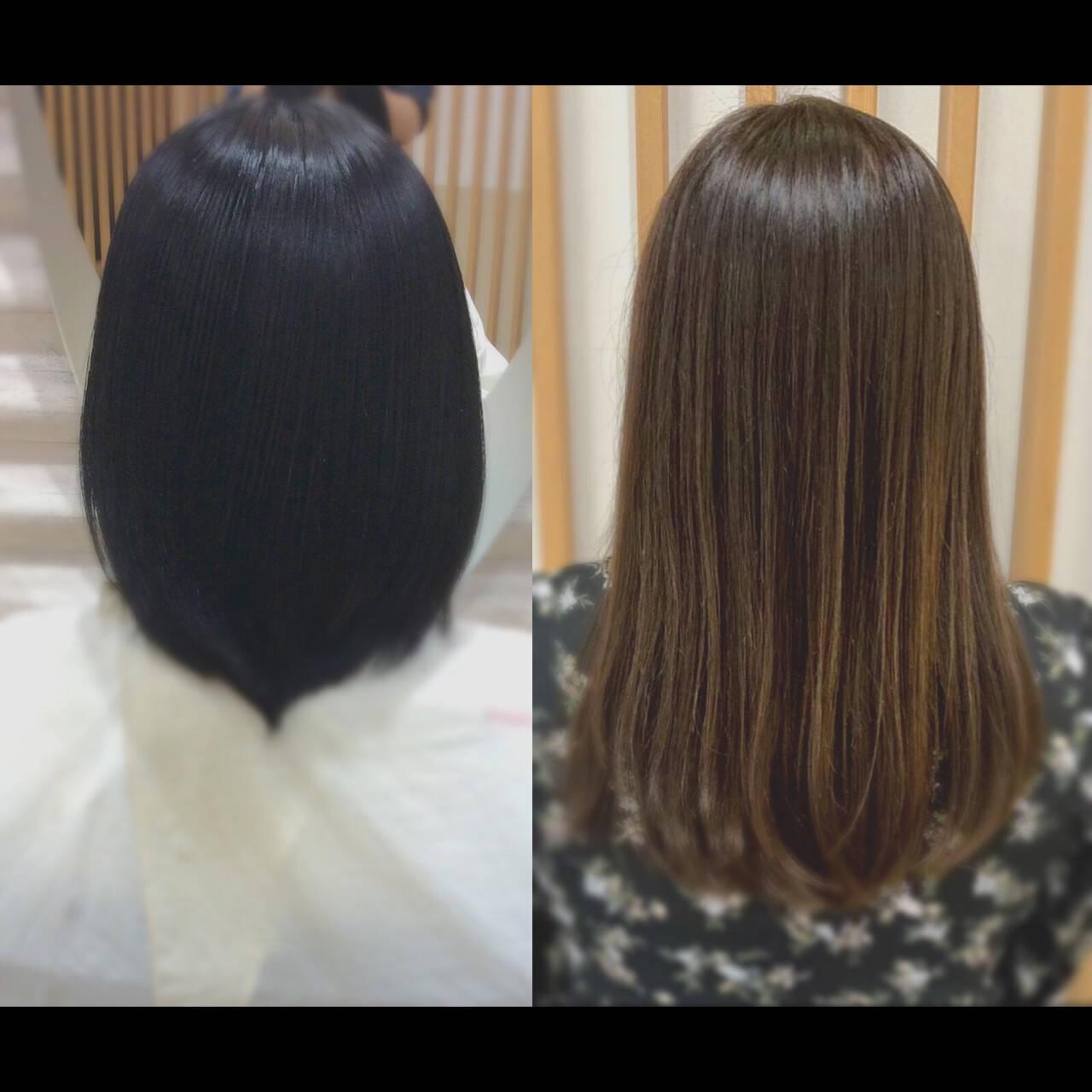 髪質改善カラー 髪質改善トリートメント ロングヘア ロングヘアスタイルや髪型の写真・画像