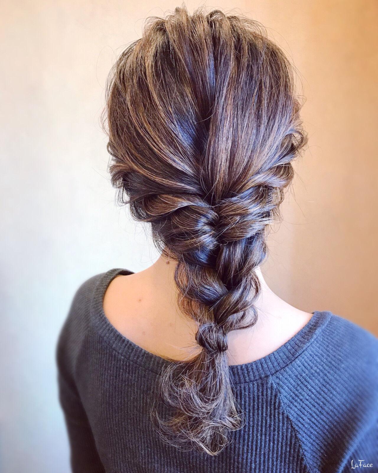 エレガント 編みおろし 結婚式 ロングヘアスタイルや髪型の写真・画像
