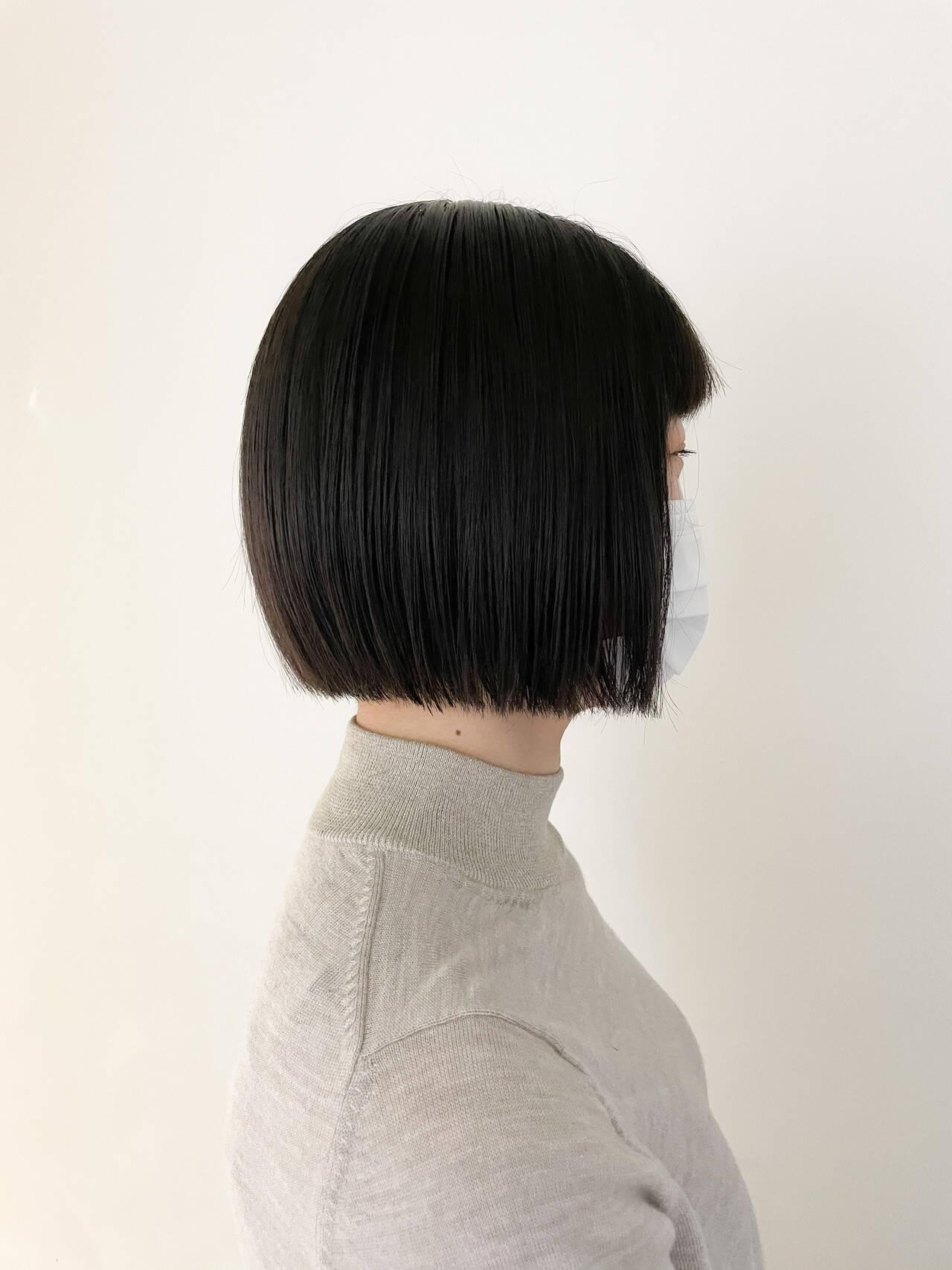 ナチュラル ショートヘア ミニボブ ベリーショートヘアスタイルや髪型の写真・画像