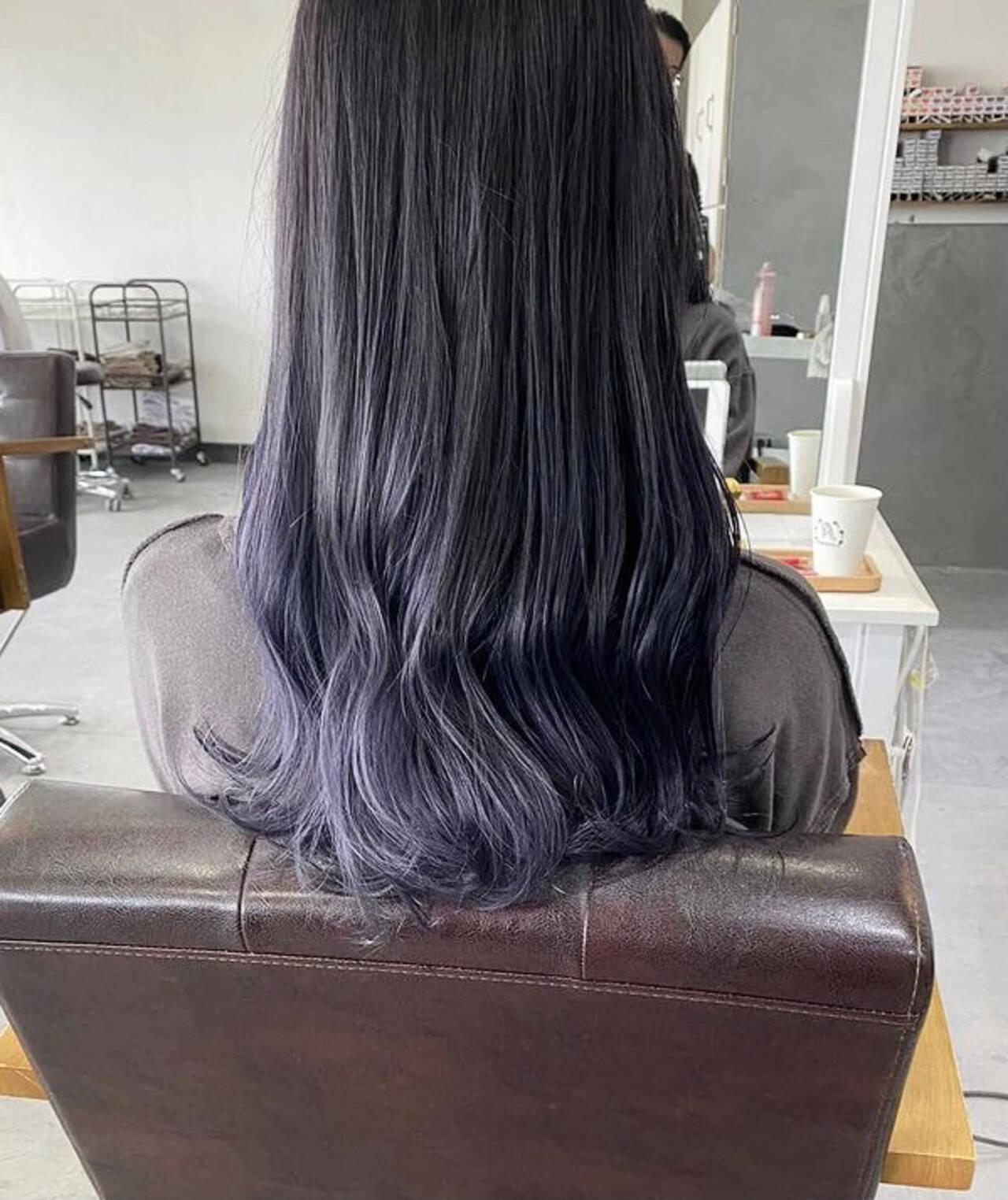 ナチュラル 圧倒的透明感 セミロング 透明感カラーヘアスタイルや髪型の写真・画像