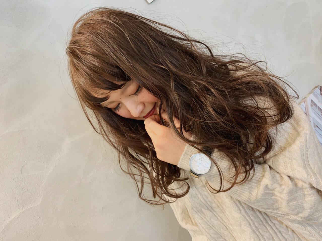フェミニン 外国人風カラー ゆるふわ 外国人風ヘアスタイルや髪型の写真・画像