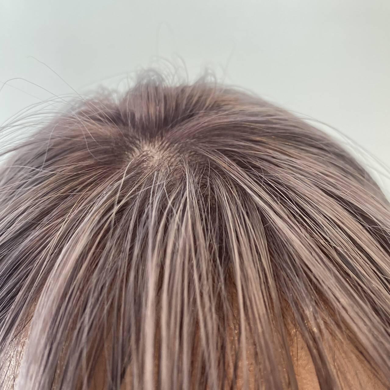 ハイトーンカラー ヘアカラー 3Dハイライト ナチュラルヘアスタイルや髪型の写真・画像