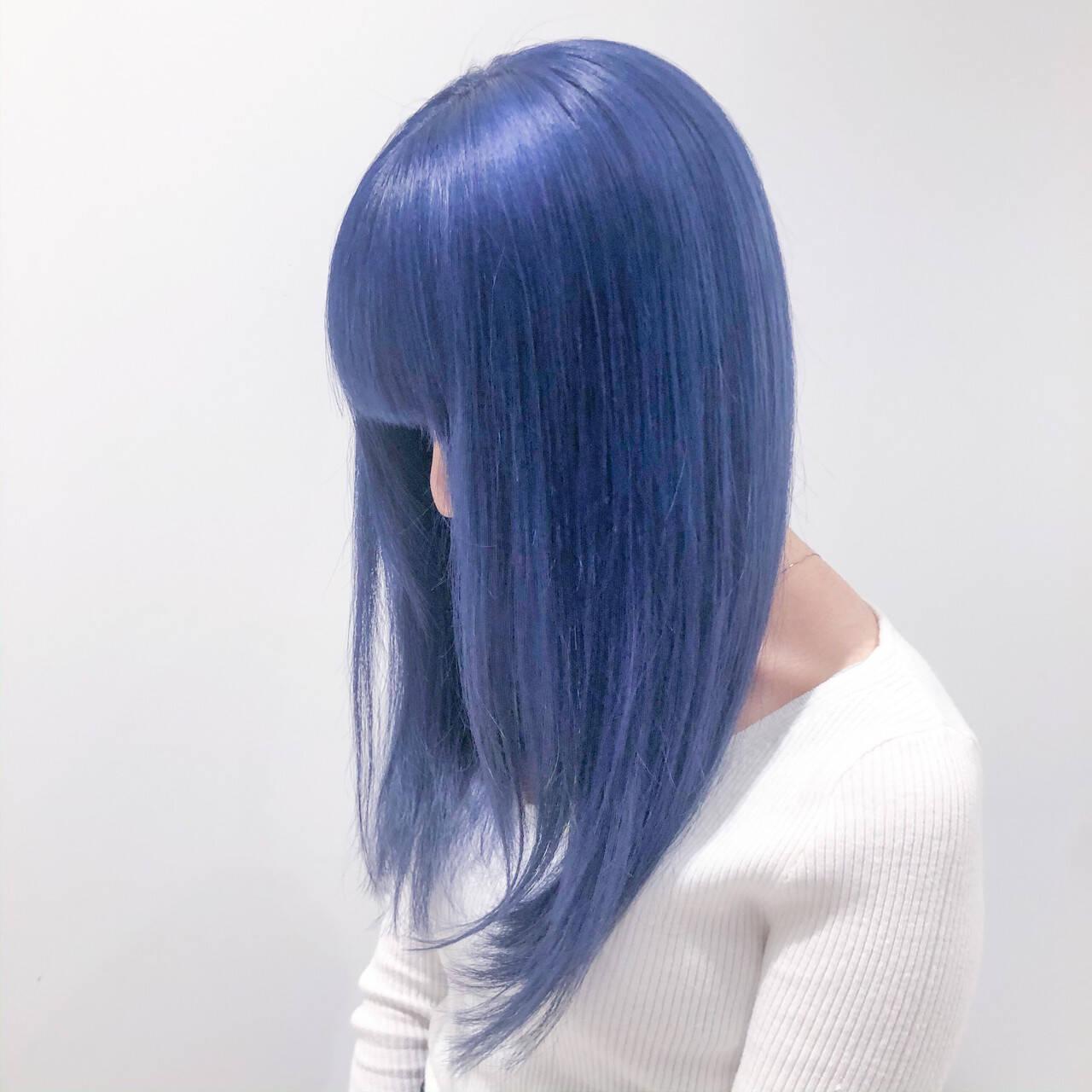 ブリーチオンカラー ブリーチカラー ホワイトブリーチ ブリーチヘアスタイルや髪型の写真・画像