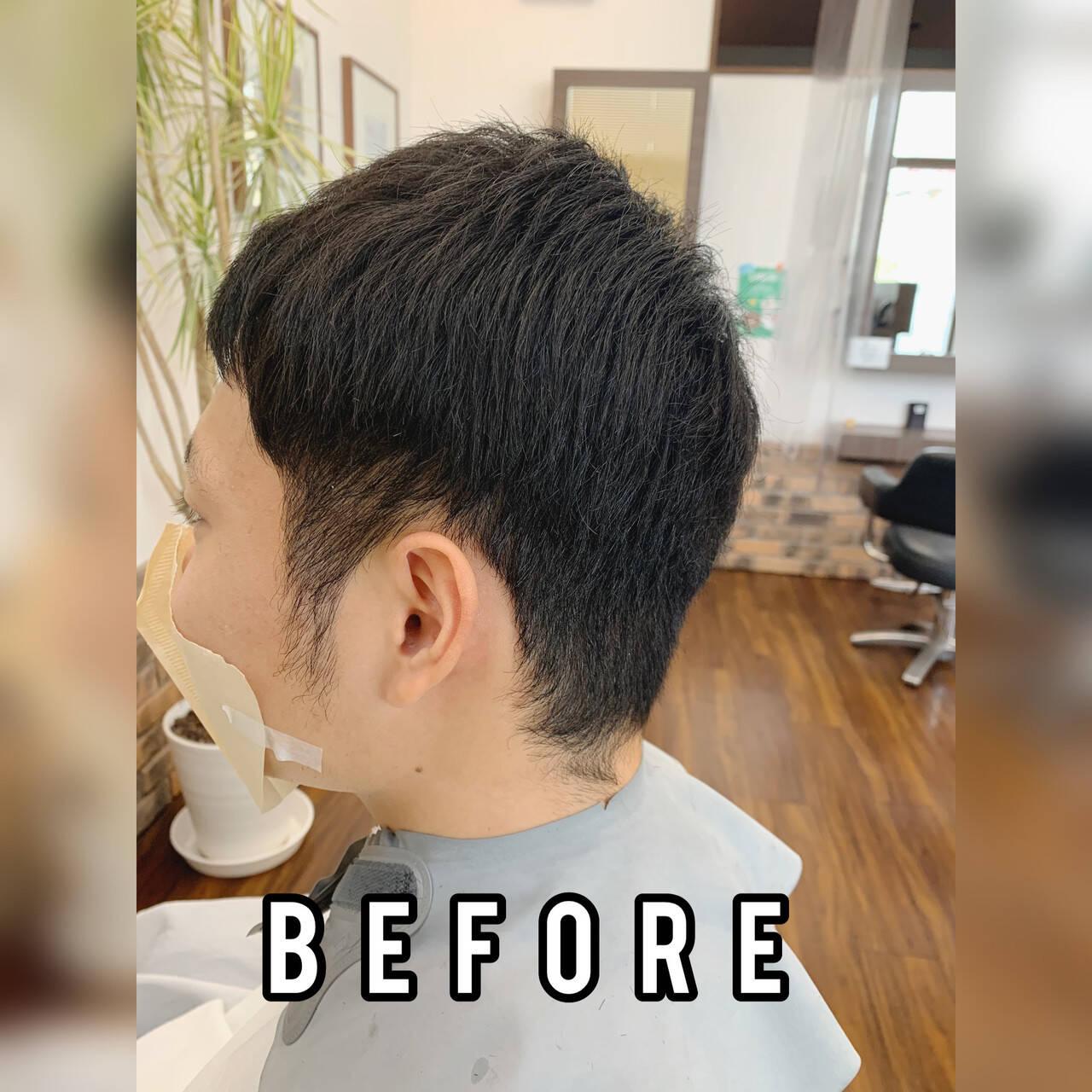 ツーブロック ベリーショート メンズヘア ショートヘアスタイルや髪型の写真・画像