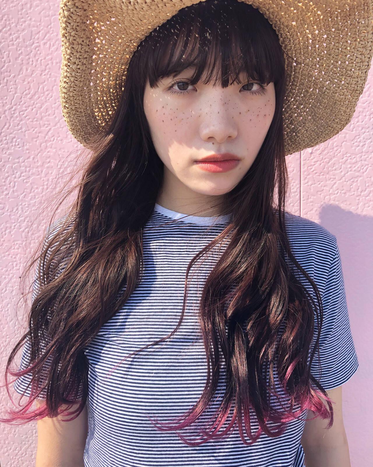 透明感カラー グラデーションカラー ナチュラル ロングヘアスタイルや髪型の写真・画像
