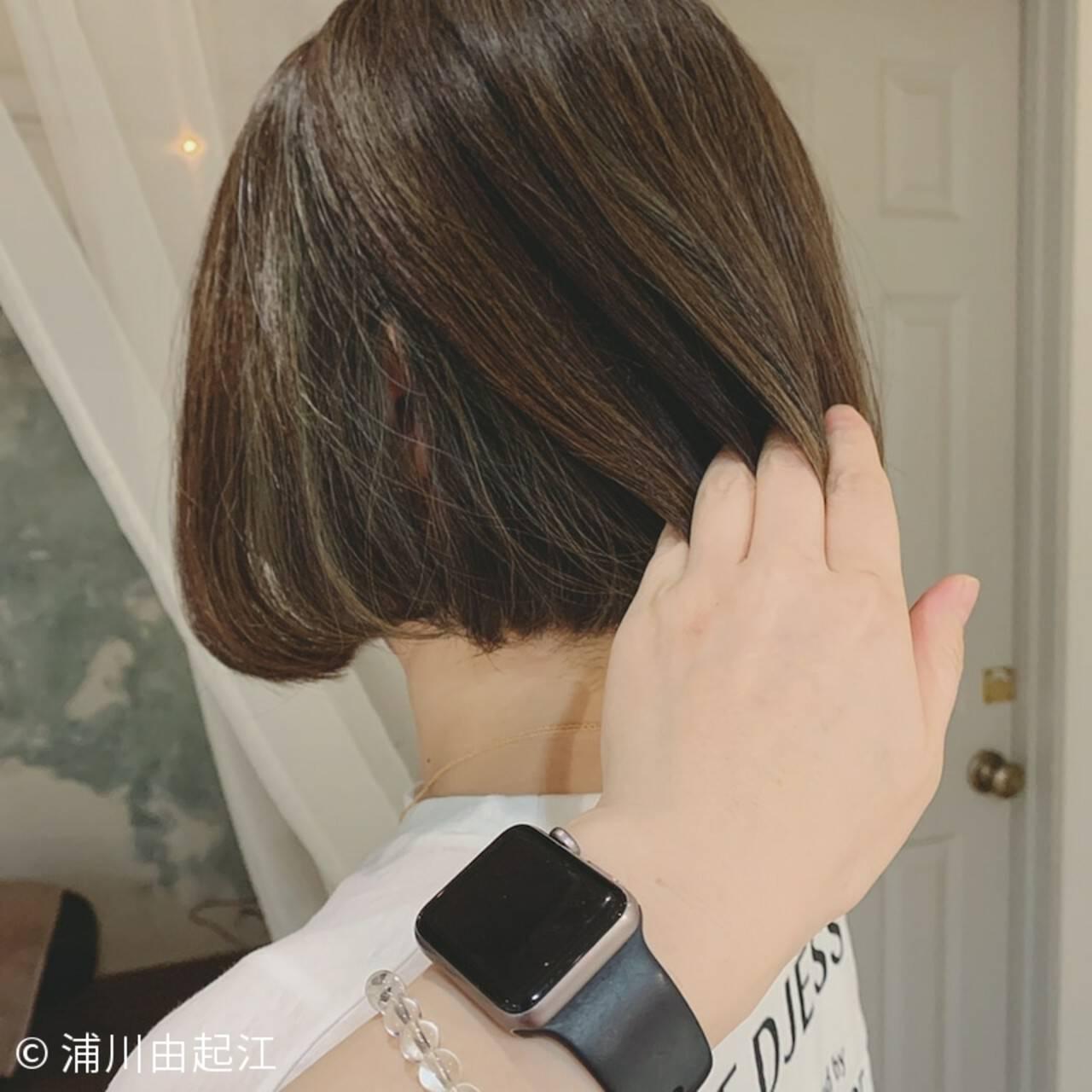 大人かわいい ゆるふわ 切りっぱなしボブ 秋冬スタイルヘアスタイルや髪型の写真・画像