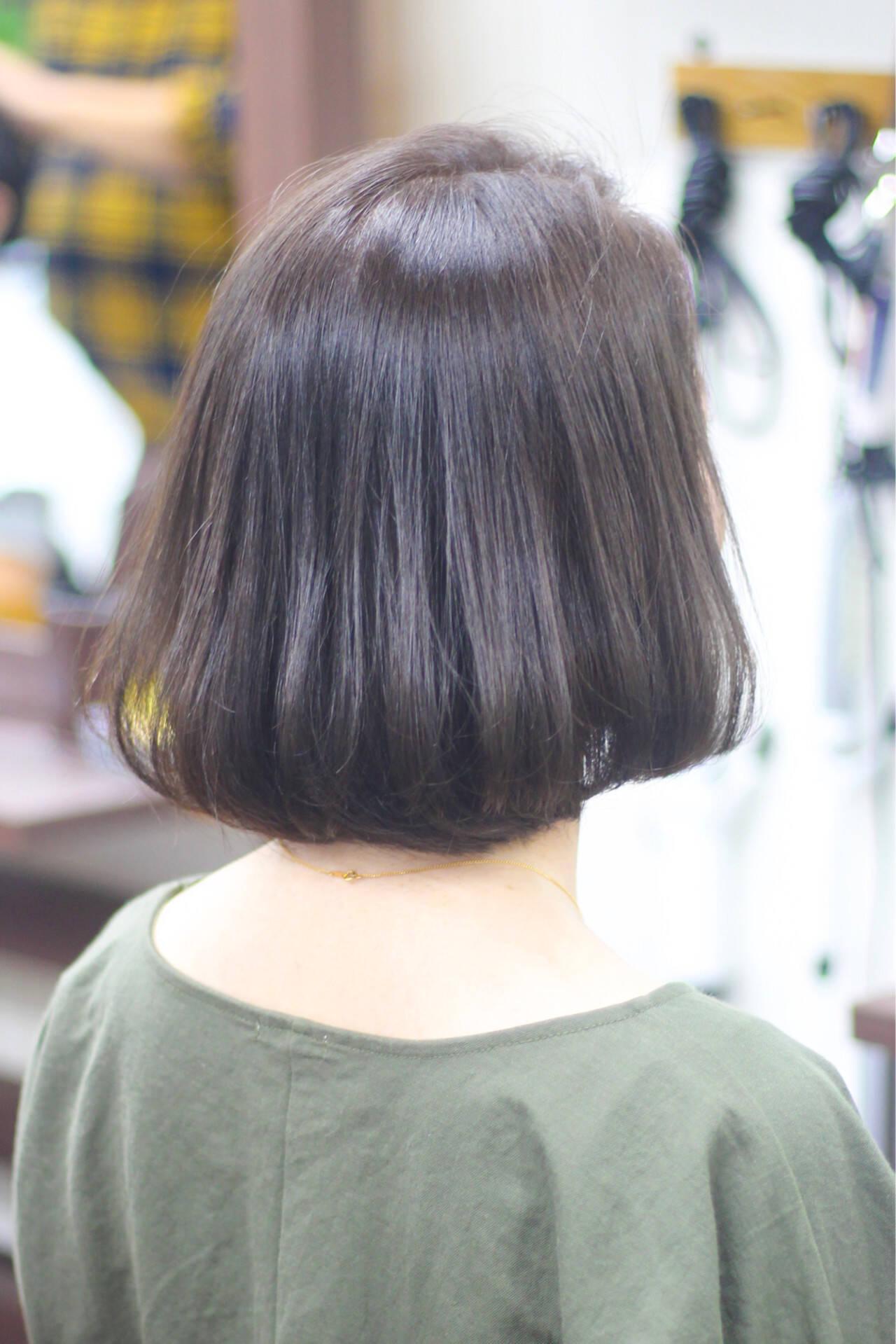 圧倒的透明感 ボブ ナチュラル 透明感カラーヘアスタイルや髪型の写真・画像