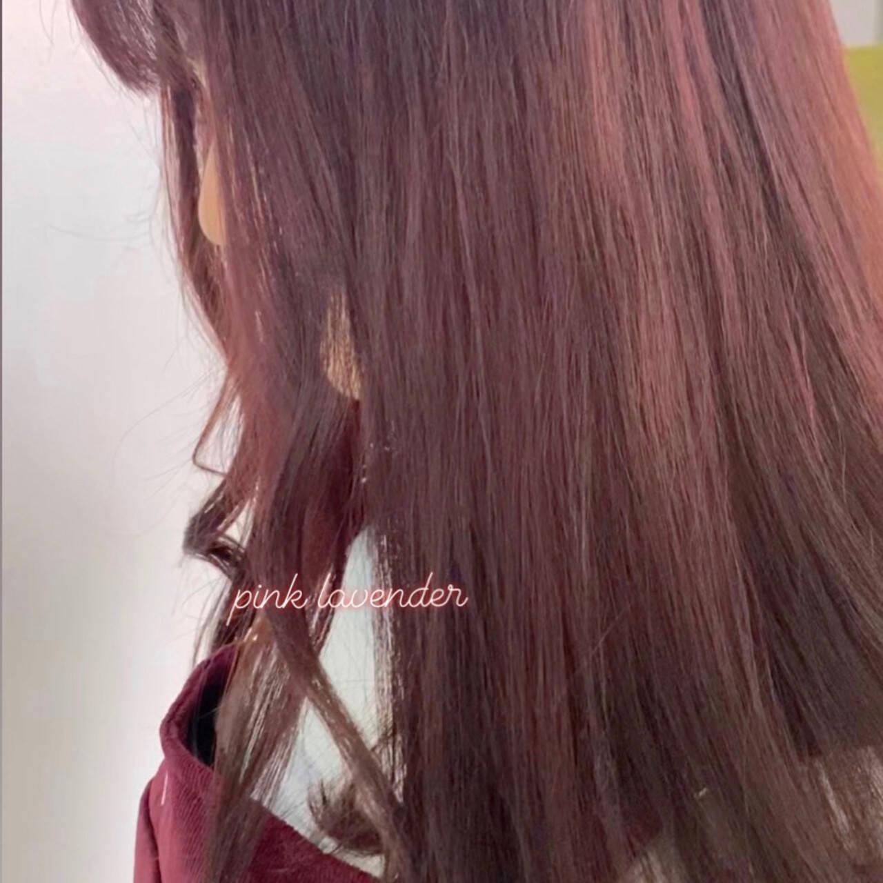 ピンクアッシュ ベリーピンク ピンクラベンダー ピンクヘアスタイルや髪型の写真・画像