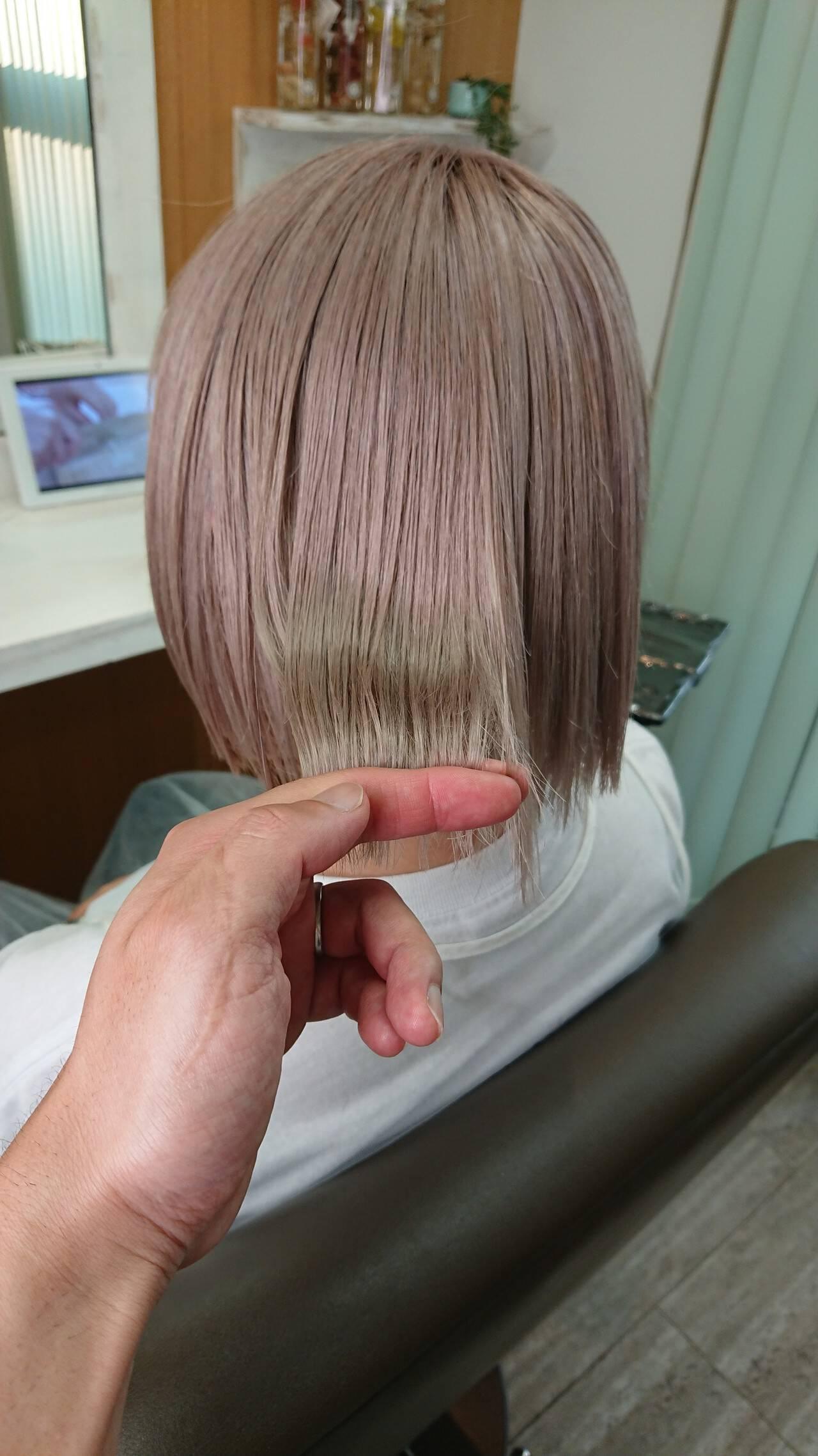 ストリート ボブヘアスタイルや髪型の写真・画像
