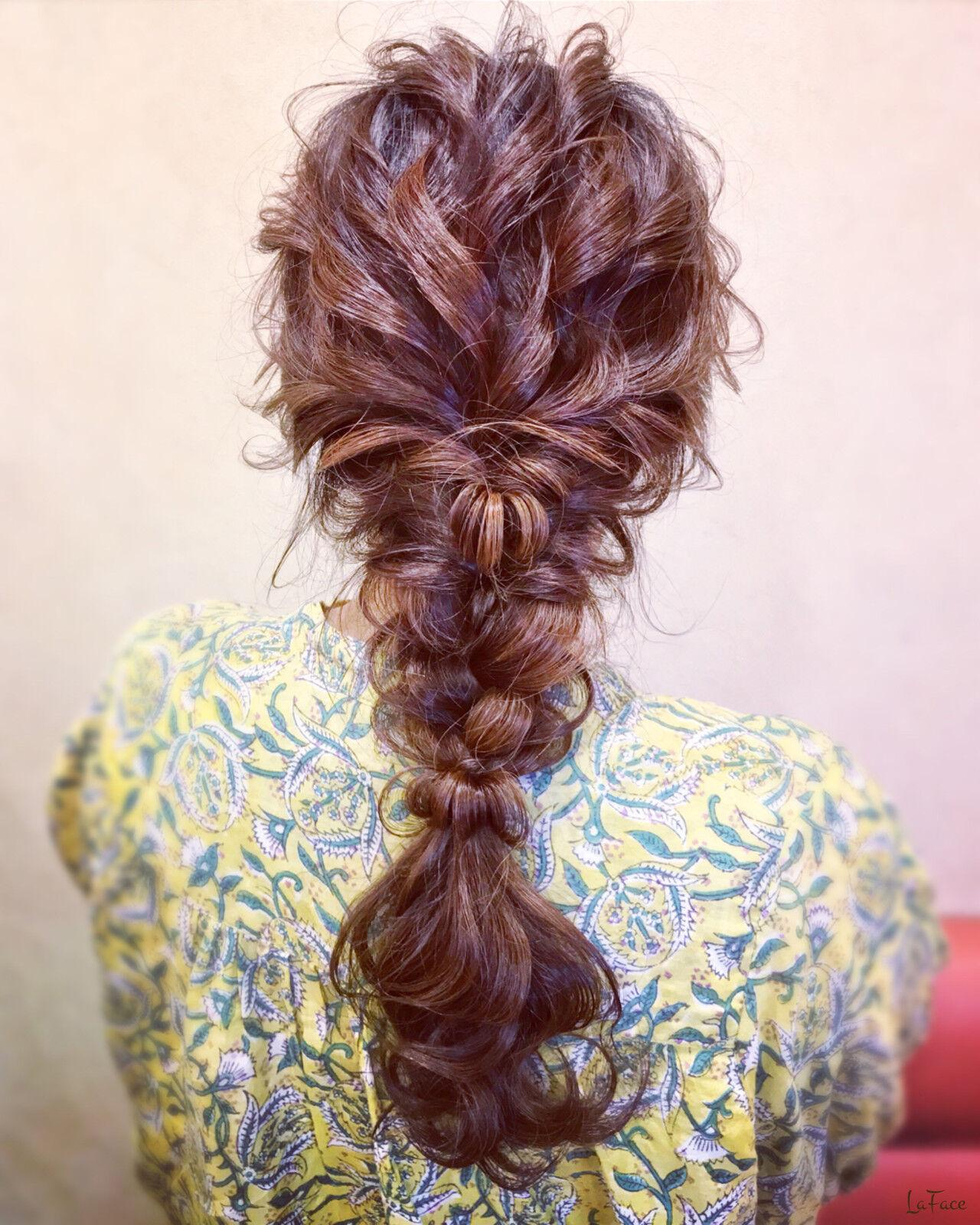 簡単ヘアアレンジ ヘアアレンジ お呼ばれ 編みおろしヘアスタイルや髪型の写真・画像