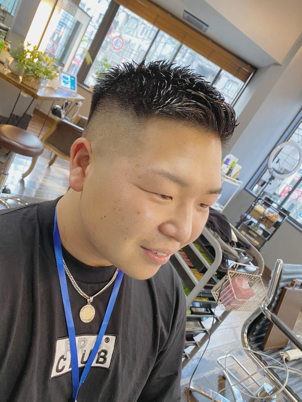 ショート メンズ 刈り上げ ストリートヘアスタイルや髪型の写真・画像