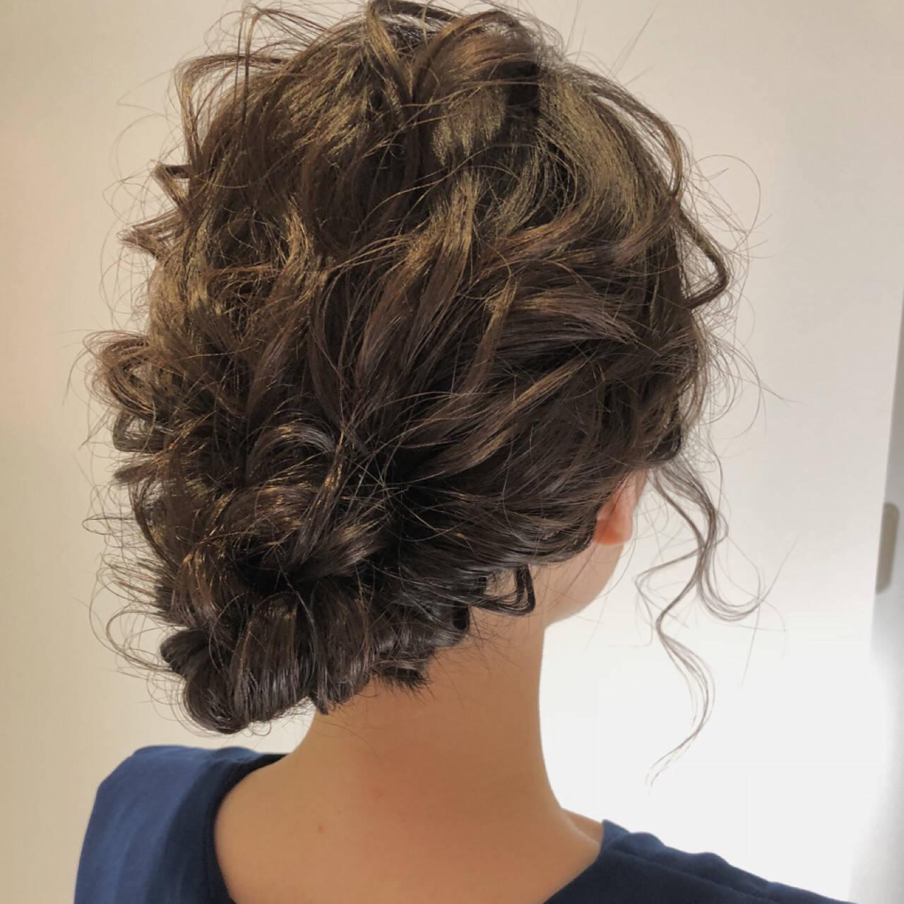 夏 パーティ ロング ヘアアレンジヘアスタイルや髪型の写真・画像