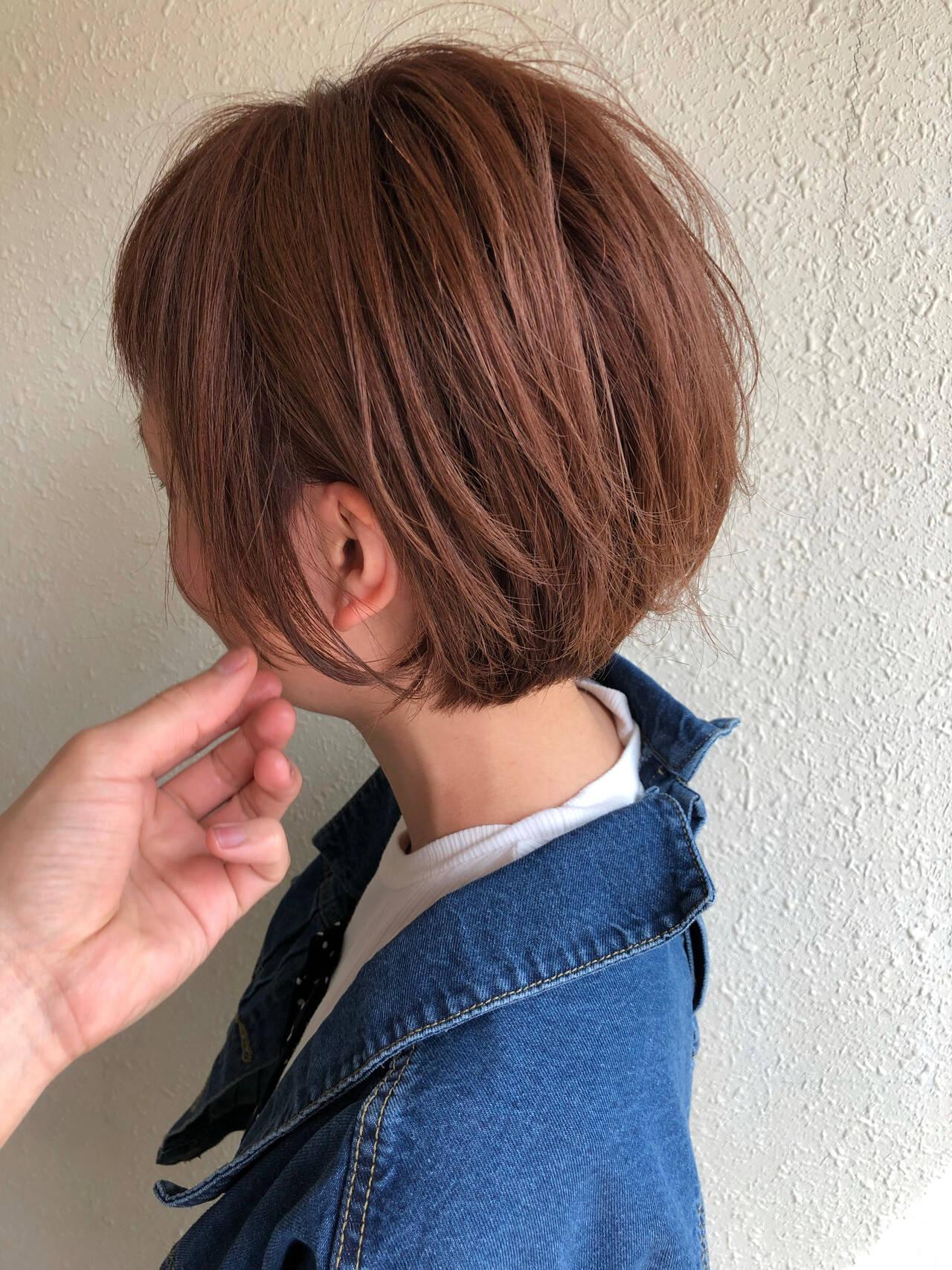 ショートボブ ショートヘア ショート 小顔ショートヘアスタイルや髪型の写真・画像