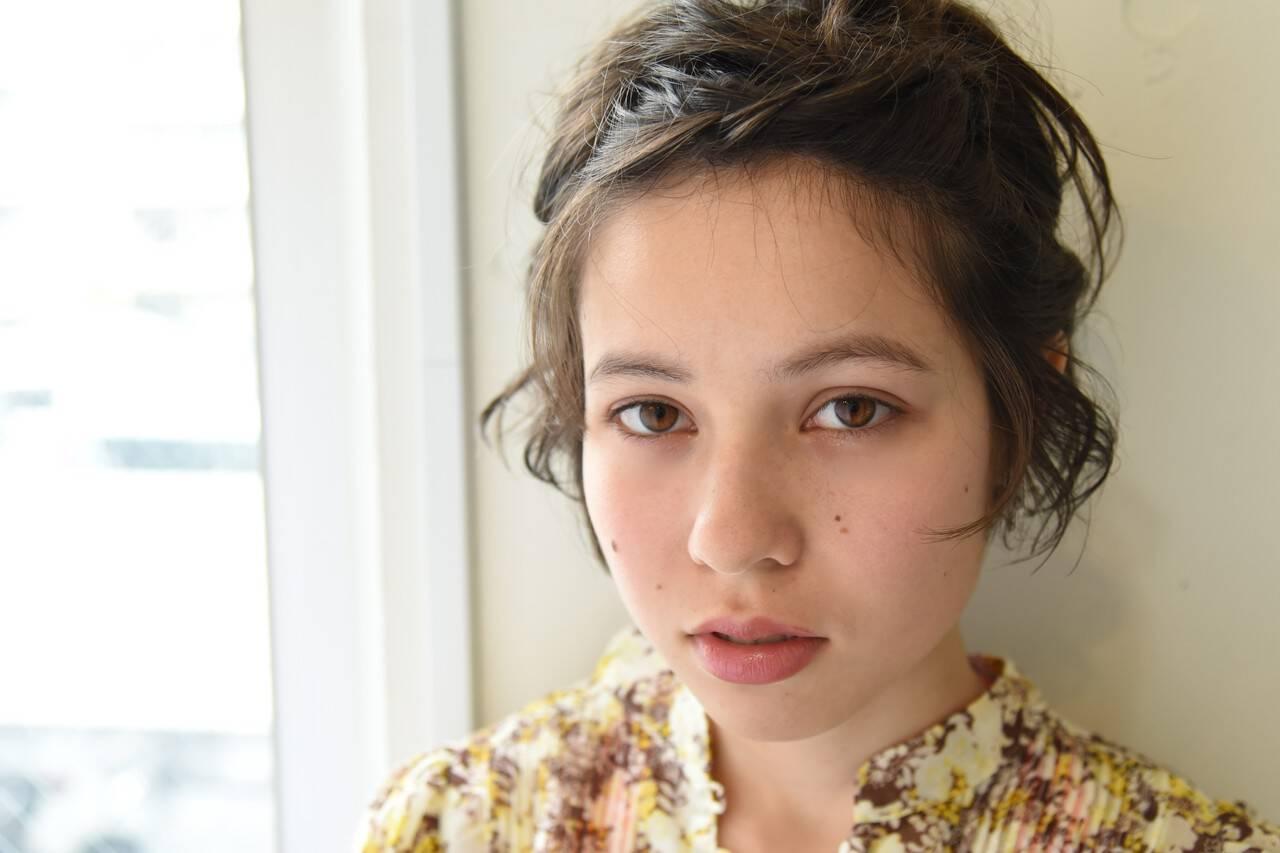 デート 簡単ヘアアレンジ 夏 ナチュラルヘアスタイルや髪型の写真・画像