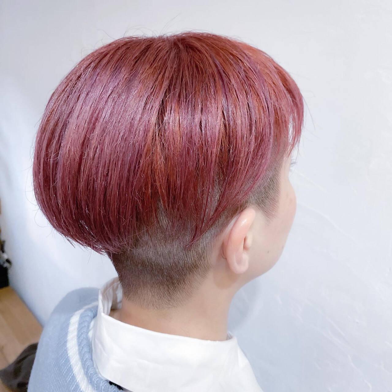 ナチュラル ピンクベージュ ブリーチオンカラー ボブヘアスタイルや髪型の写真・画像