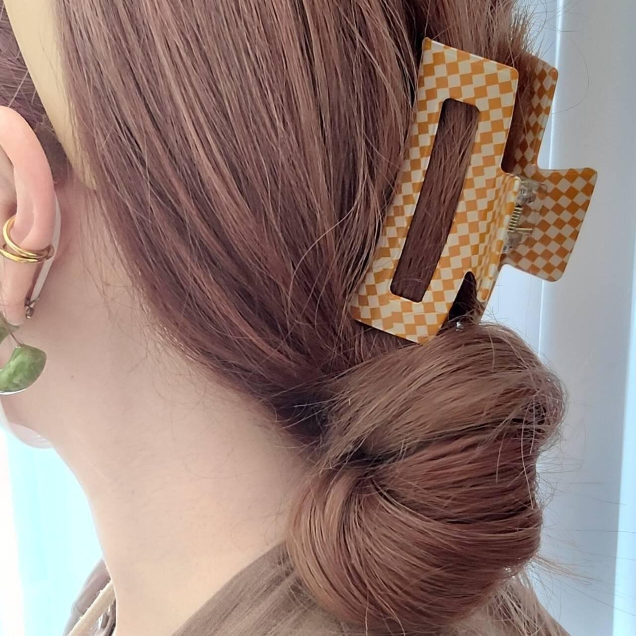 ロング ガーリー セルフアレンジ ヘアアレンジヘアスタイルや髪型の写真・画像