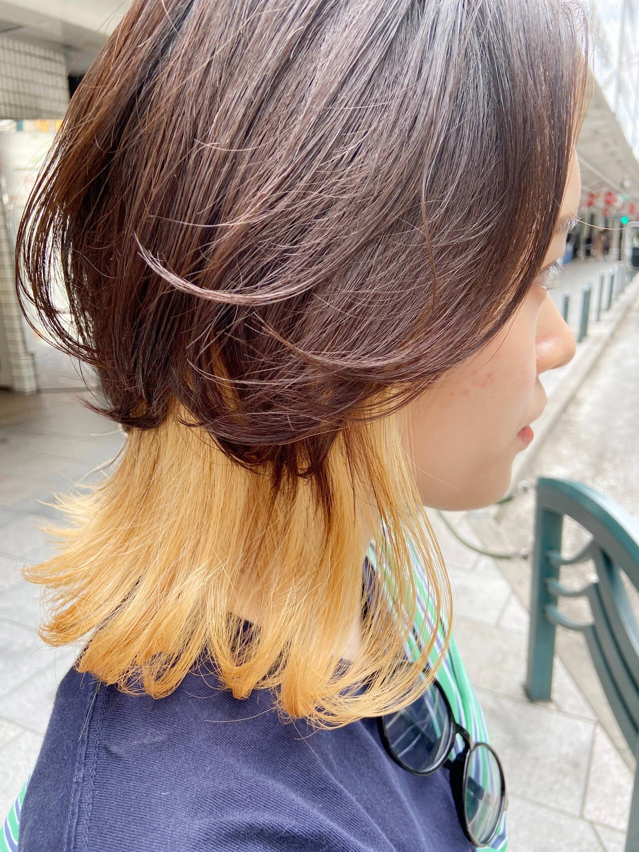 ナチュラルウルフ ブリーチ ホワイトブリーチ モードヘアスタイルや髪型の写真・画像