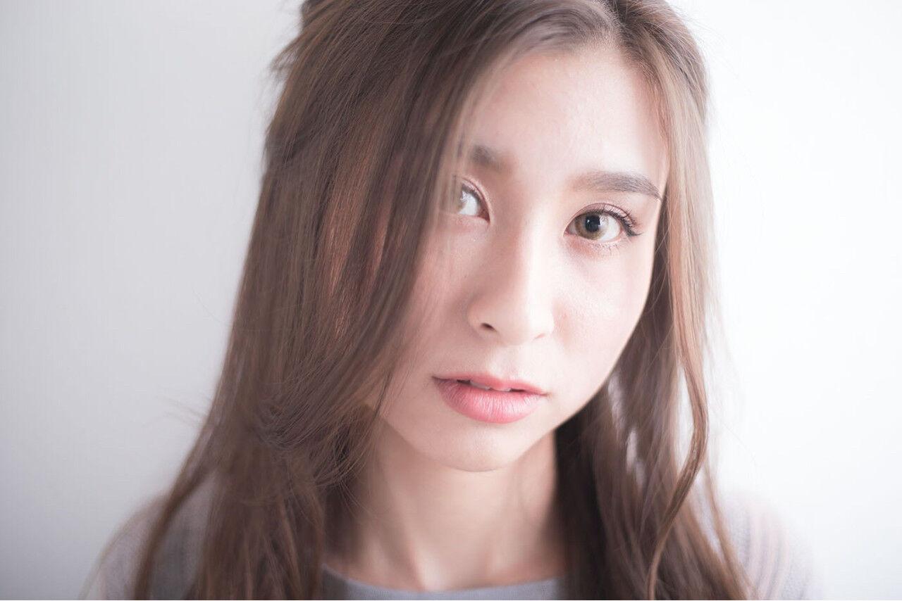 女子力 ナチュラル ヘアアレンジ セミロングヘアスタイルや髪型の写真・画像