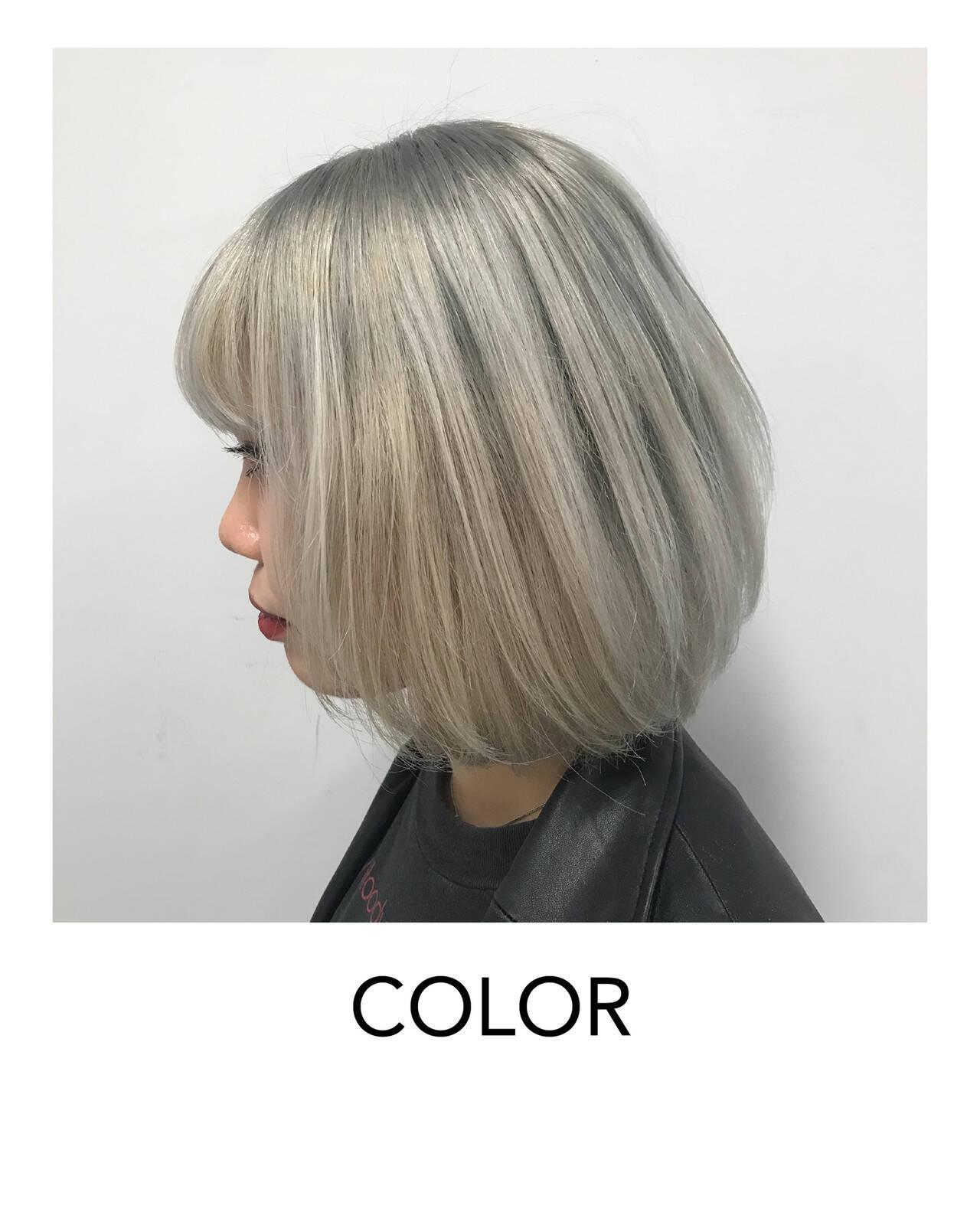 ブリーチオンカラー 原宿 ストリート イメチェンヘアスタイルや髪型の写真・画像