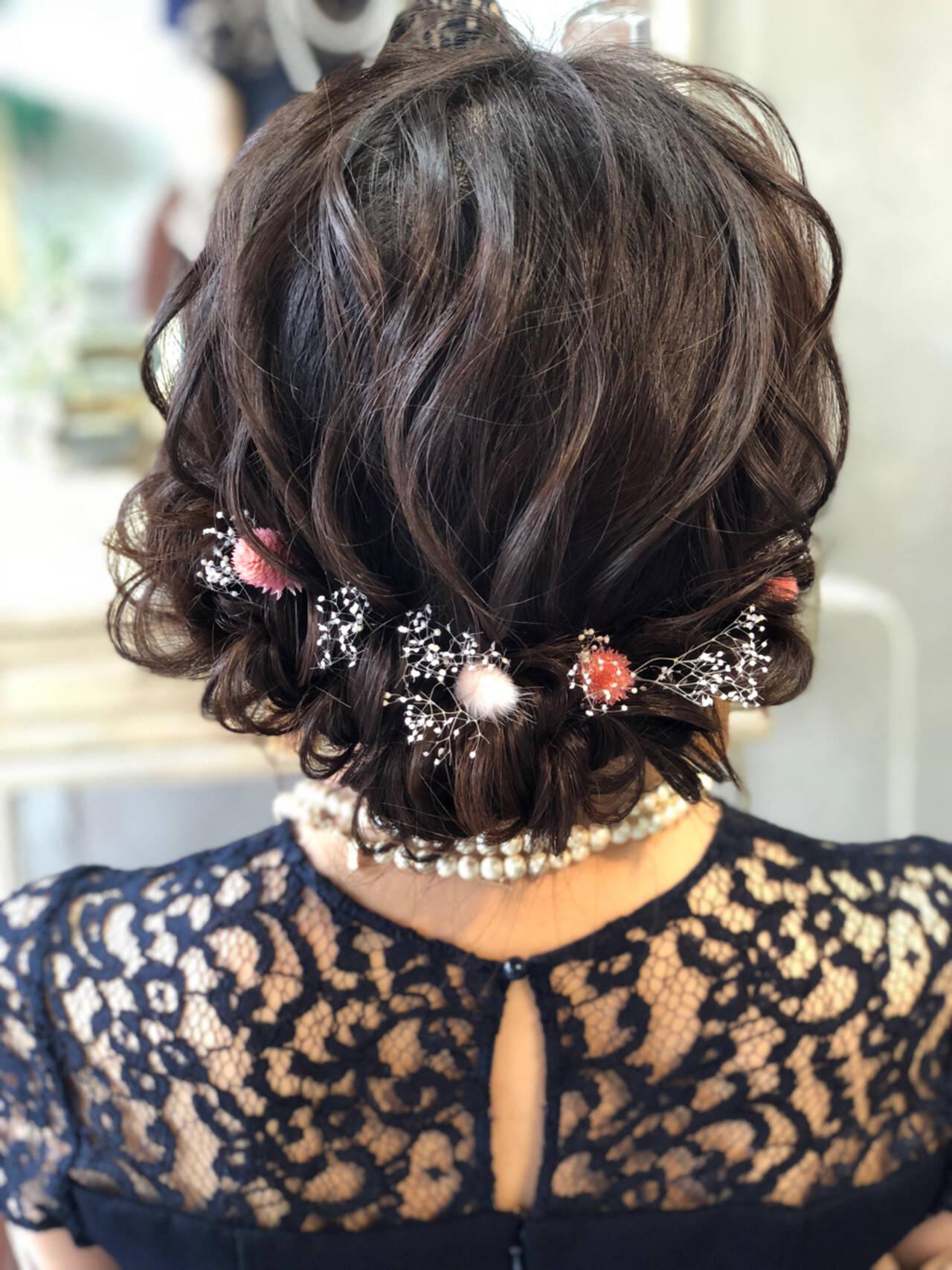 結婚式 成人式 ヘアアレンジ エレガントヘアスタイルや髪型の写真・画像