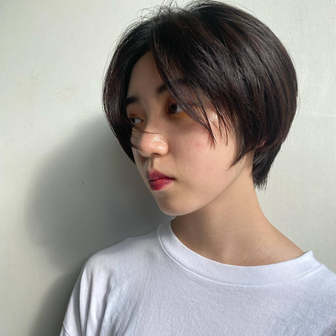 カジュアル ベリーショート ナチュラル ハンサムショートヘアスタイルや髪型の写真・画像